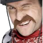 Moustache cow-boy chatain