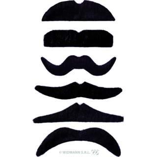 Pack de 24 moustaches noires