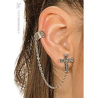 Boucles d'oreilles croix gothique