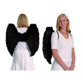 Maxi ailes d'ange en plumes noires
