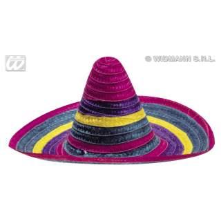 Sombrero paille multicolore