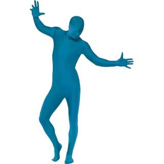 Combinaison seconde peau bleu avec cagoule