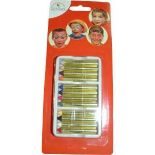 Boite de 12 crayons maquillage assortis