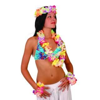Set hawaïen luxe fluo
