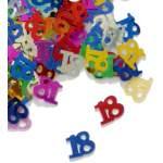Confettis chiffre 18 multicolores