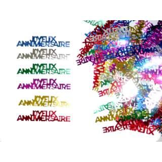 Confettis multicolores joyeux anniversaire