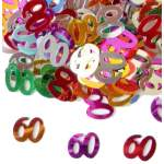 Confettis chiffre 60 multicolores