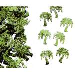 Confettis palmiers verts