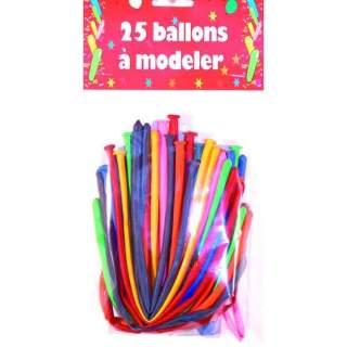 Sachet de 25 ballons à modeler