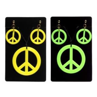 Boucles d'oreilles avec collier hippie