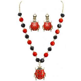 Set bijoux coccinelle