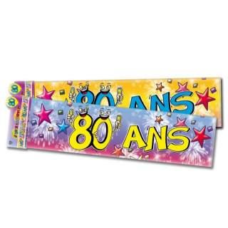 Banderole Anniversaire 80 Ans