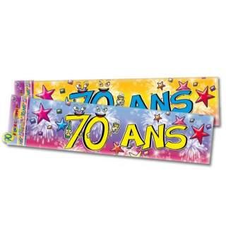 Banderole anniversaire 70 ans