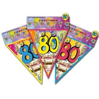 Guirlande fanions anniversaire 80 ans