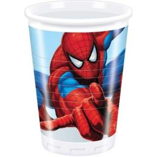 8 gobelets plastique Spiderman