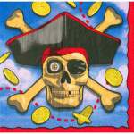 16 serviettes papier Pirate