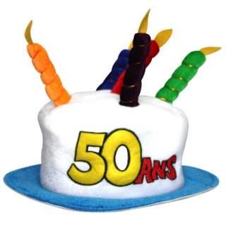 Chapeau anniversaire 50 ans