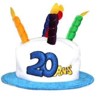 Chapeau anniversaire 20 ans