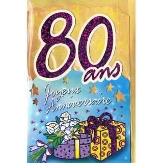 Carte Joyeux Anniversaire 80 Ans Méga Fête