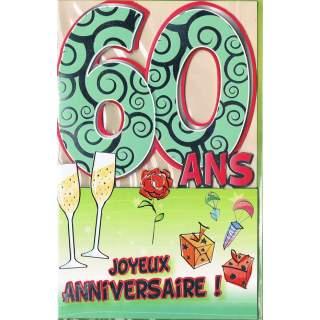 Carte Joyeux Anniversaire 60 Ans Mega Fete