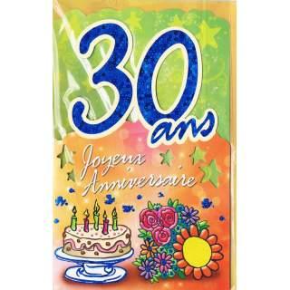 Carte Joyeux Anniversaire 30 Ans Mega Fete