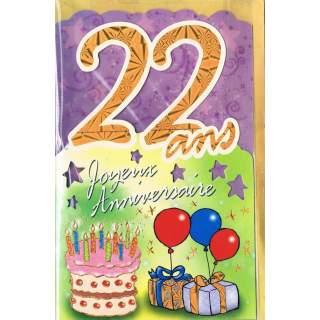 Carte Joyeux Anniversaire 22 Ans