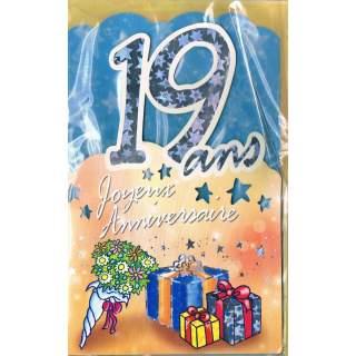Carte Joyeux Anniversaire 19 Ans Mega Fete