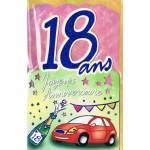 Carte Joyeux Anniversaire 18 ans