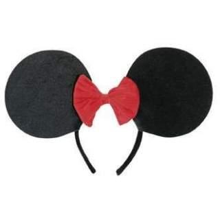 Serre tête oreille de souris avec noeud rouge