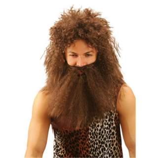Perruque et barbe homme des cavernes