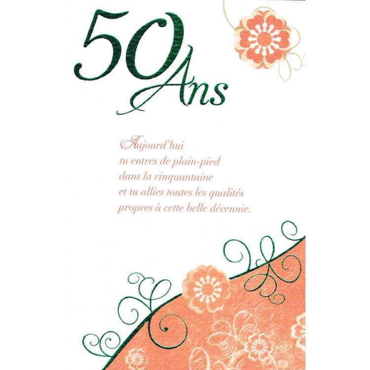 carte anniversaire 50 ans m ga f te. Black Bedroom Furniture Sets. Home Design Ideas