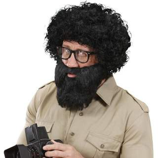Barbe noire avec moustache