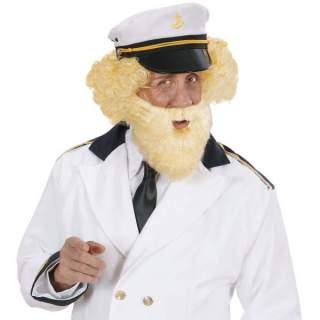 Barbe blonde avec moustache