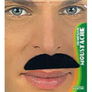 Moustache noire adhésive
