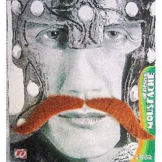 Moustache rousse adhésive