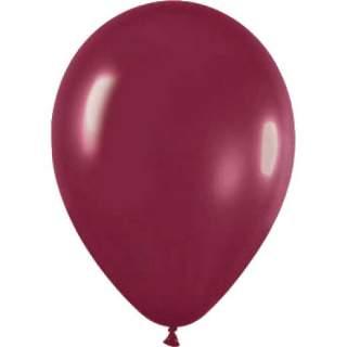 100 ballons métallisés bordeaux