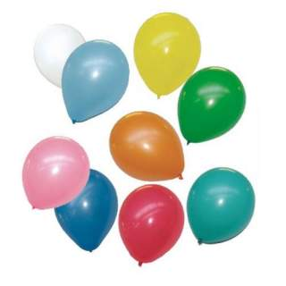 100 ballons gonflables couleurs assorties