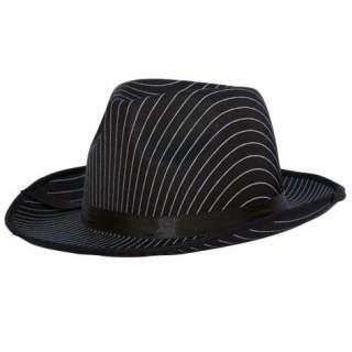 Chapeau gangster satin rayé