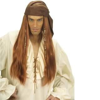 Perruque pirate des Caraïbes avec foulard