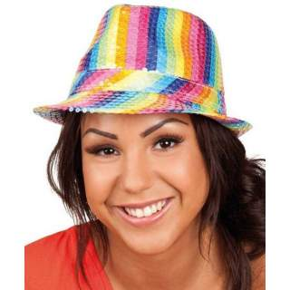 Chapeau multicolore rainbow