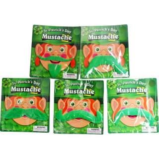 Moustache verte Saint Patrick