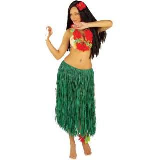 Jupe Hawaï raffia vert
