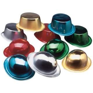 Chapeau plastique métalisé