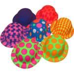 Chapeau couleurs fluo plastique