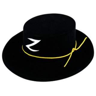 Chapeau de justicier noir flocké